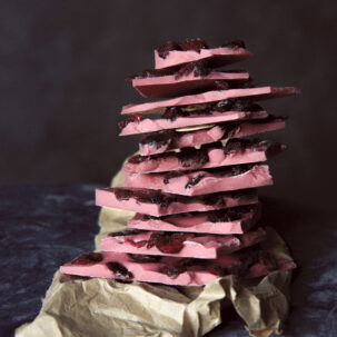 Ruby Pink Chocolate with Cranberries